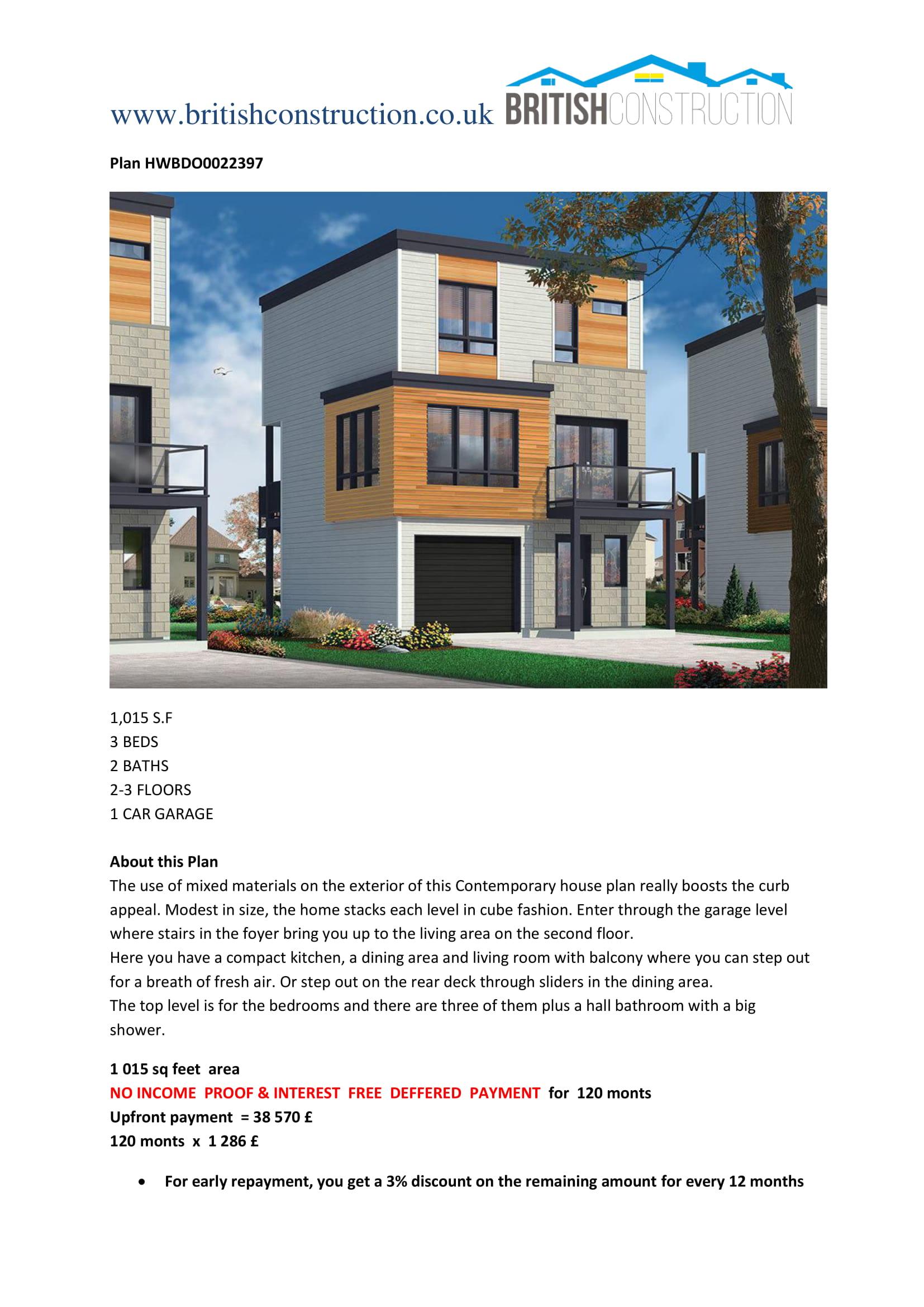 Plan HWBDO0022397